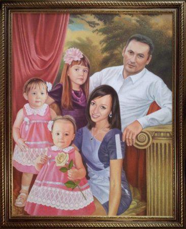 Семейный портрет маслом в Севастополе — правильная традиция…