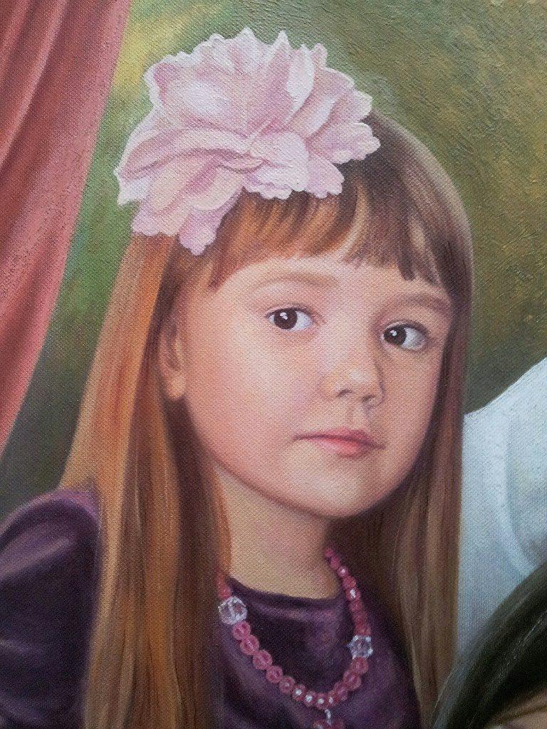 Семейный портрет на холсте Севастополь