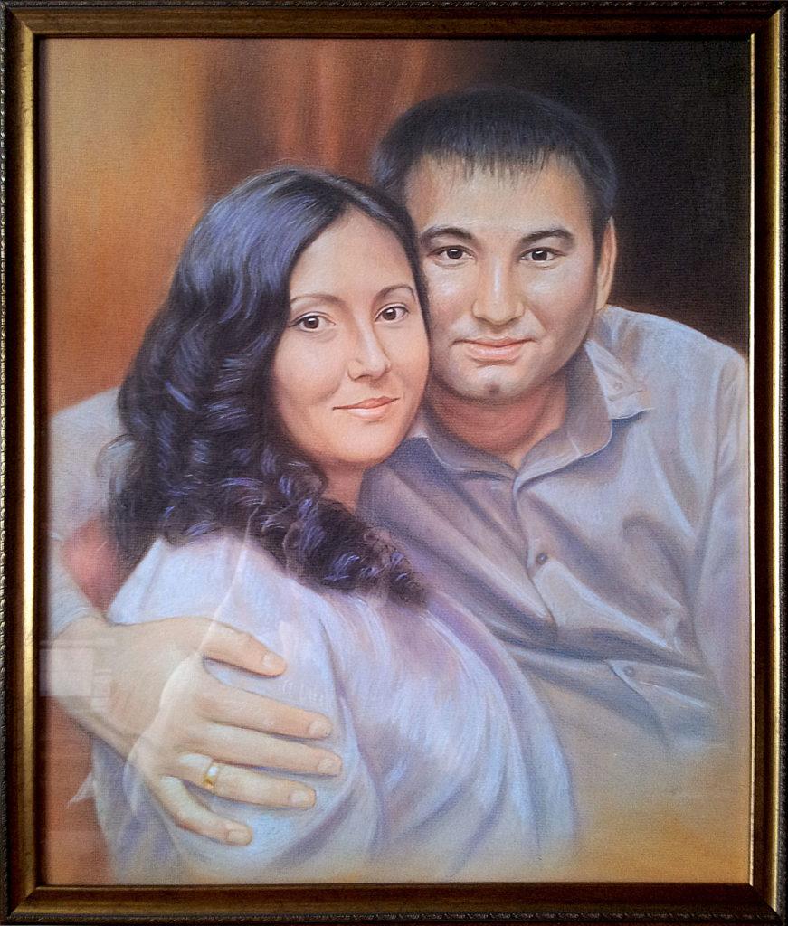 Портрет пастелью на заказ