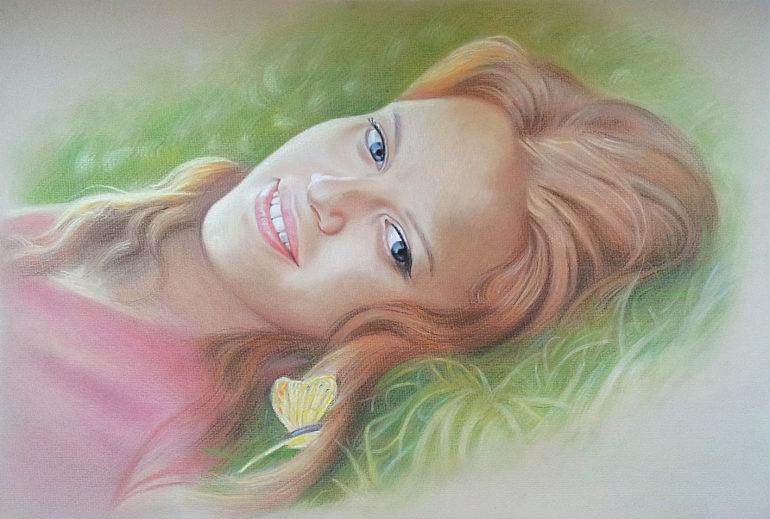 Настоящий портрет пастелью для любимой девушки в Севастополе, просто и со вкусом!