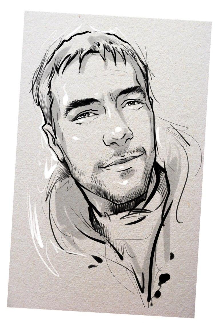Портрет карандашом любимому мужу в Севастополе…