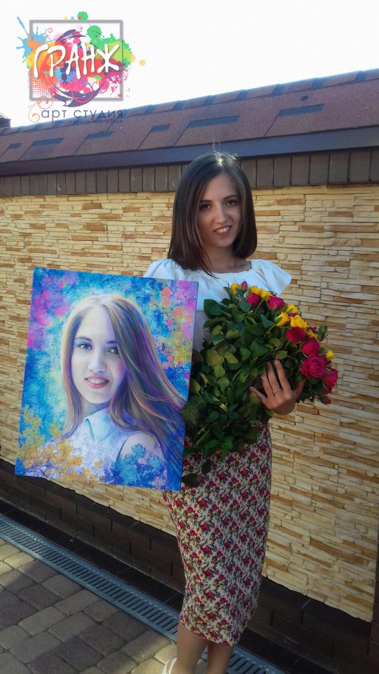Подруга осталась довольной от портрета на заказ в стиле Гранж…