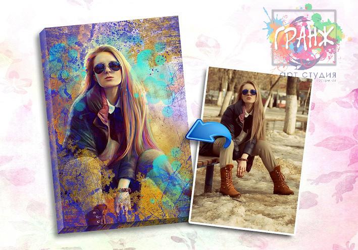 Портрет по фото на заказ в честь 8 марта в Севастополе