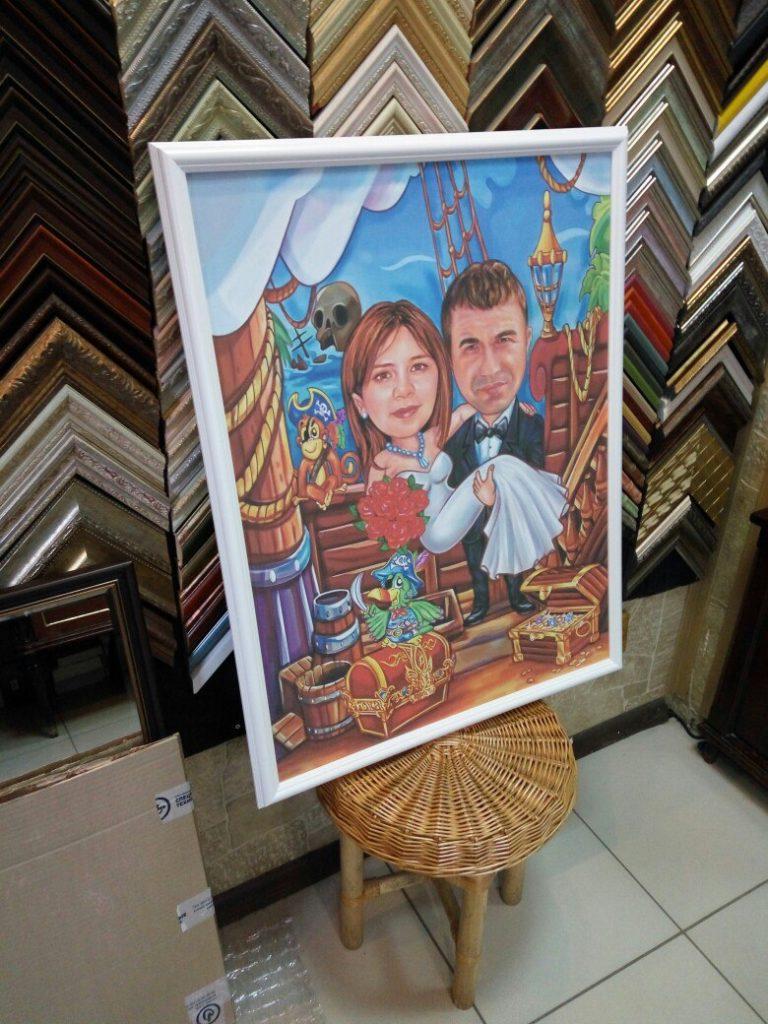 портрет шарж на заказ в Севастополе