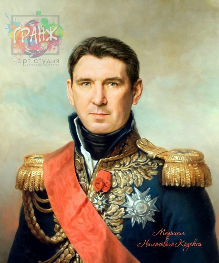 Портрет по фото на холсте в подарок мужчине на 23 февраля Севастополь
