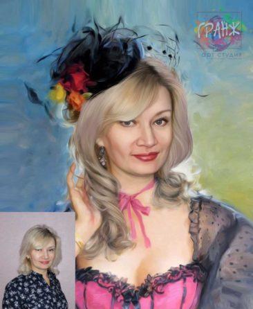 Заказать арт портрет по фото на холсте в Севастополе