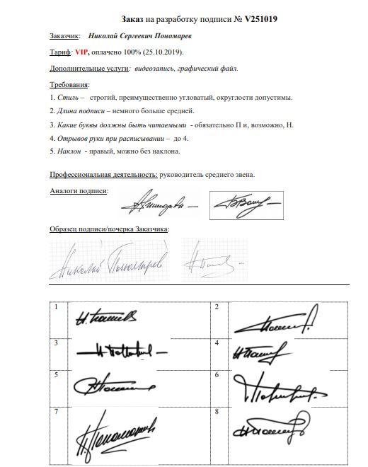 Разработка личной подписи онлайн Севастополь