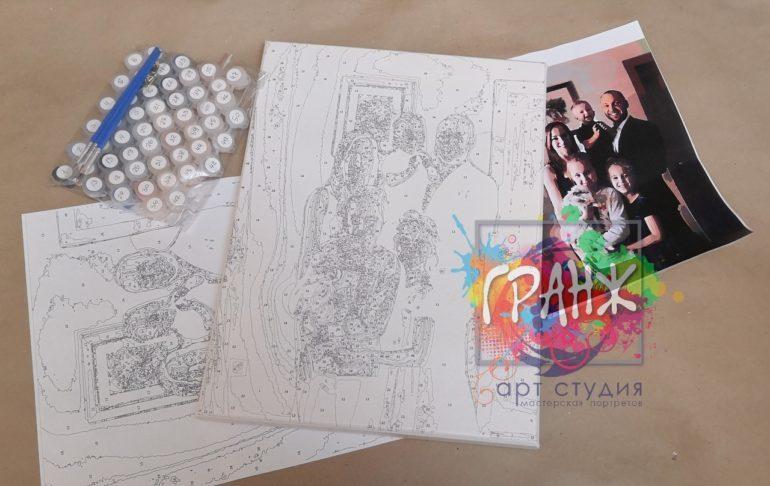 Картина по номерам по фото, портреты на холсте и дереве в Севастополе